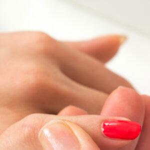 Gel polish beauty treatment